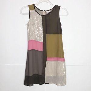 EUC Next Girls Colorblock sequin sleeveless dress